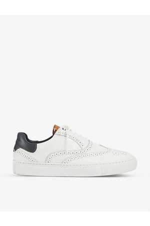 Ted Baker Men Trainers - Dennton brogue-embellished leather trainers