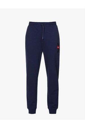 HUGO BOSS Logo-embroidered cotton-terry jogging bottoms