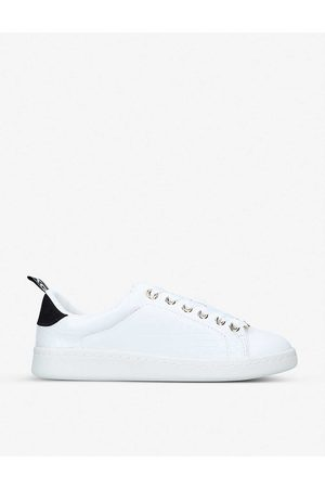 Kurt Geiger Liza logo-embossed low-top faux-leather trainers