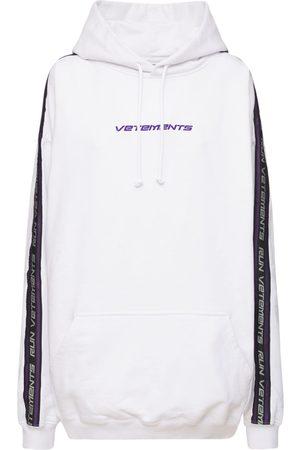 Vetements Logo Tape Cotton Jersey Sweatshirt