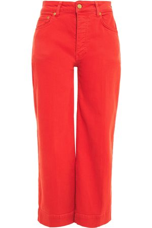 Victoria Victoria Beckham Woman Cropped Mid-rise Wide-leg Jeans Size 25