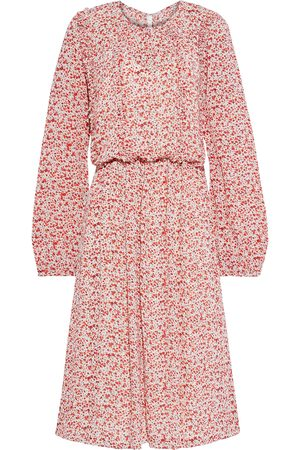 MIKAEL AGHAL Woman Gathered Floral-print Crepe De Chine Midi Dress Size 10