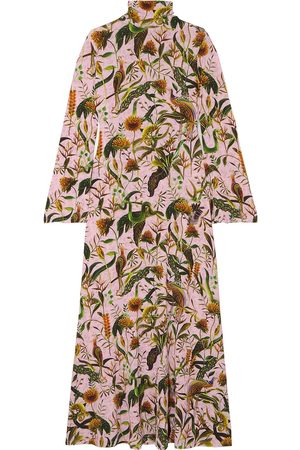 DODO BAR OR Woman + Annabel's Printed Stretch-jersey Turtleneck Maxi Dress Baby Size L