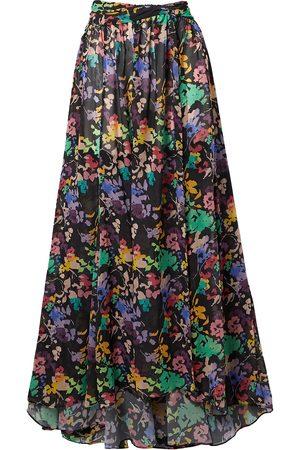 Caroline Constas Woman Hera Floral-print Chiffon Maxi Skirt Size L