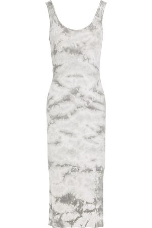 ENZA COSTA Woman Ribbed Tie-dyed Jersey Midi Dress Size L