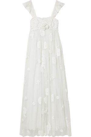 LOVESHACKFANCY Woman Irene Appliquéd Lace-trimmed Swiss-dot Tulle Gown Size 2