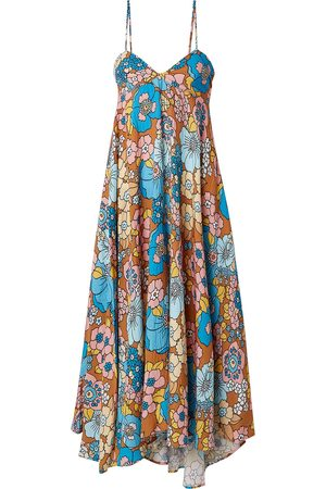 DODO BAR OR Woman Mila Floral-print Crinkled Voile Midi Dress Multicolor Size L