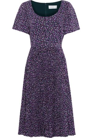 MIKAEL AGHAL Woman Pleated Floral-print Crepe De Chine Dress Size 10