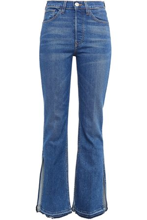 3x1 Woman High-rise Flared Jeans Mid Denim Size 23