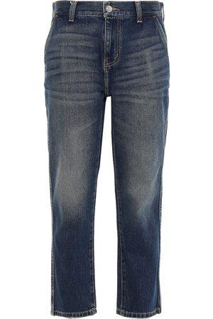 Current/Elliott Woman Confidant Cropped High-rise Tapered Jeans Dark Denim Size 28