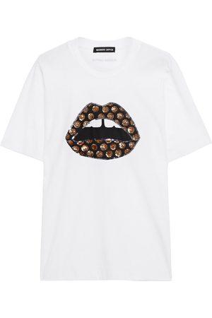 Markus Lupfer Woman Alex Embellished Printed Cotton-jersey T-shirt Size L