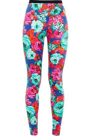 Msgm Woman Floral-print Stretch-jersey Leggings Multicolor Size 38