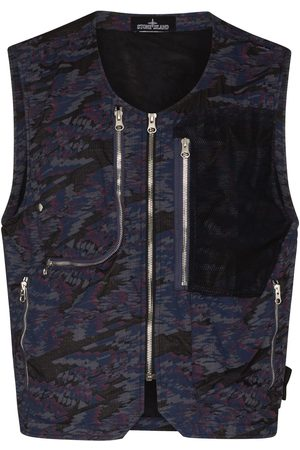 Stone Island Shadow Project Abstract-print utility gilet