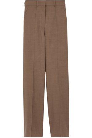 Burberry Women Wide Leg Trousers - Wool Wide-Leg Trousers
