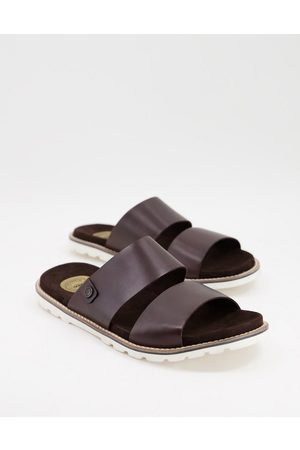 Base London Mojave double strap sandals in leather