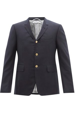 Thom Browne Men Blazers - Super 120s Wool-twill Suit Jacket - Mens - Navy