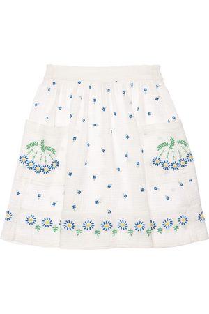 Stella McCartney Embroidered Organic Cotton Gauze Skirt