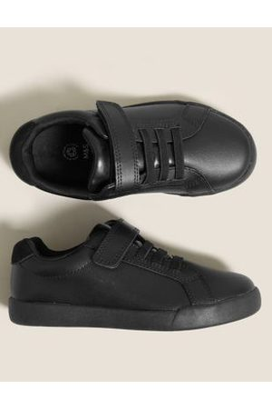 Marks & Spencer Girls School Shoes - Unisex Boys Girls Kids' Leather Riptape School Shoes (13 Small-10 Large) - 8 SNAR