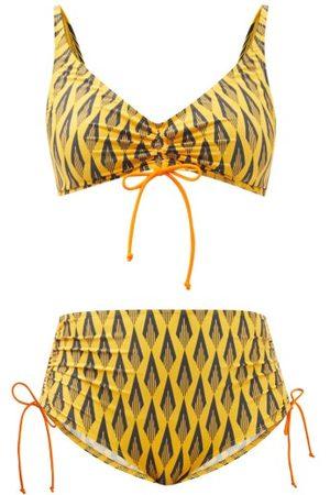 Paco rabanne Maillot Printed V-neck Bikini - Womens - Print