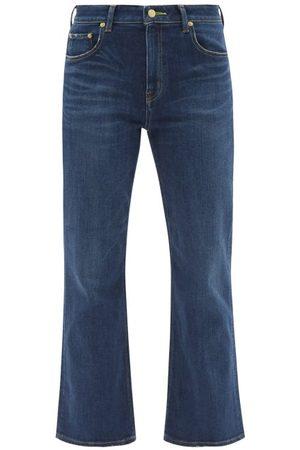 TU ES MON TRESOR The Lapis Lazuli Cropped Kick-flare Jeans - Womens - Dark