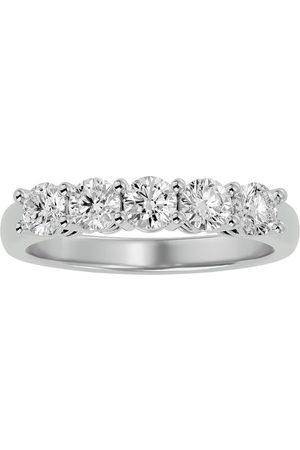 SuperJeweler 1 Carat Five Diamond Prong Set Wedding Band in 14k , H-I, Size 4