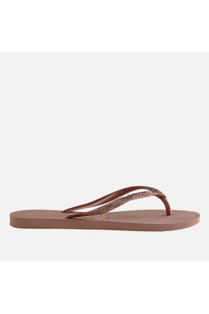 Havaianas Girls' Slim Glitter Flip Flops