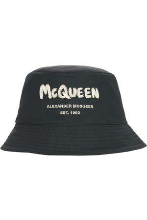 Alexander McQueen Graffiti Logo Nylon Bucket Hat