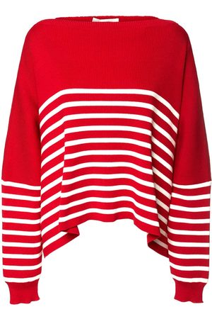 VALENTINO Women Jumpers - Cotton Knit Striped Sweater