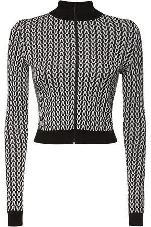 VALENTINO Women Sweatshirts - Jacquard Wool Knit Sweatshirt
