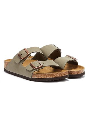 Birkenstock Arizona Birko Flor Nubuck Stone Sandals