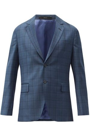 Paul Smith Single-breasted Check Wool-fresco Suit Jacket - Mens - Multi