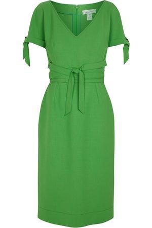Oscar de la Renta Stretch wool-blend midi dress