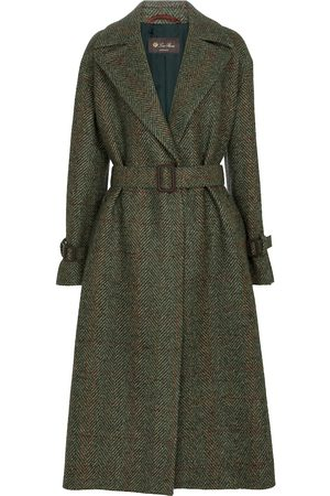 Loro Piana Belted herringbone coat