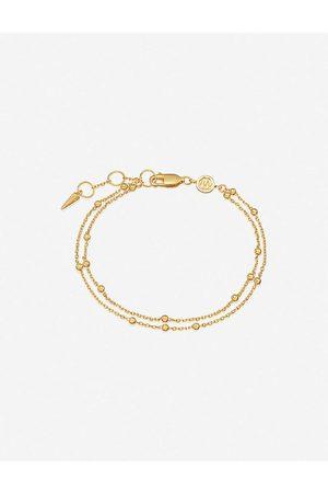 Missoma Double 18ct -plated vermeil silver chain bracelet
