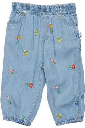 Stella McCartney Girls Jeans - Embroidered Lyocell Jeans