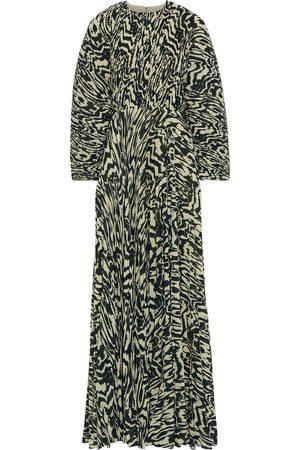 Solace Woman Taima Printed Plissé-crepe Maxi Dress Size 10