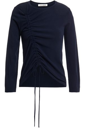AUTUMN CASHMERE Woman Ruched Knitted Sweater Navy Size S