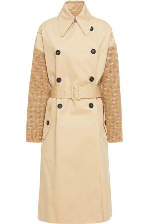 M Missoni Woman Belted Paneled Cotton-gabardine Trench Coat Size L