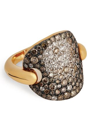 Pomellato Women Rings - Rose and Diamond Sabbia Ring