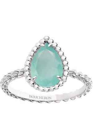 Boucheron Women Rings - White Gold and Aquaprase Serpent Bohème Ring