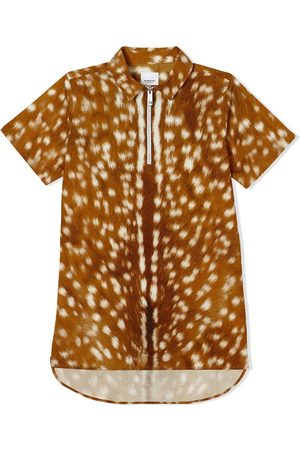 Burberry Boys Short Sleeve - Short-sleeve deer print shirt