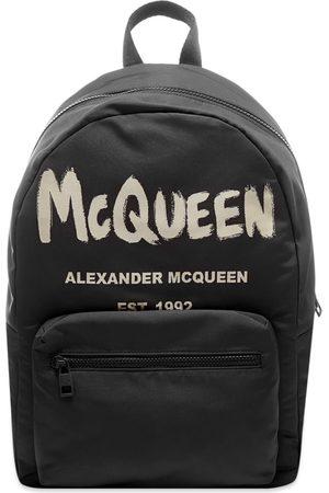 Alexander McQueen Graffiti Logo Backpack