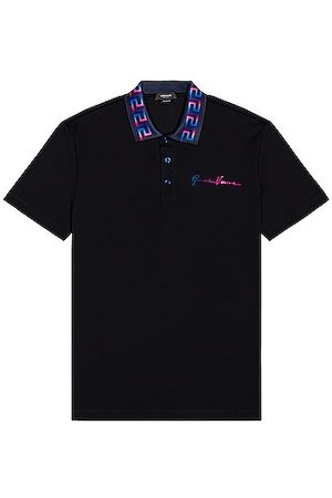 VERSACE Polo in Navy