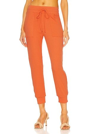 THE RANGE Women Trousers - Ribbed Jogger in Terracotta