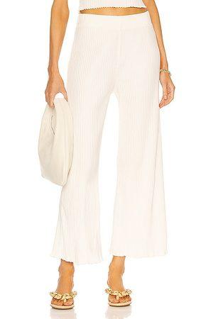 TWENTY MONTREAL Sunnyside Lounge Crop Wide Leg Pant in Cotton