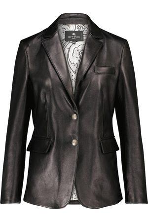 Etro Leather blazer