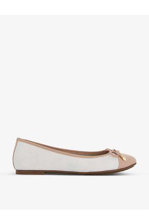 Dune Hartyln round-toe leather ballet pumps