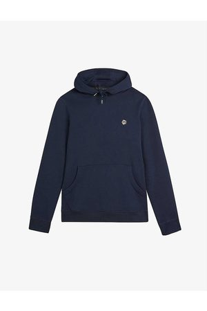 Ted Baker Hendon flower-embroidered cotton-jersey hoody