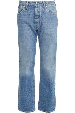 Maison Margiela Women Jeans - Cotton Denim Regular Fit Crop Jeans