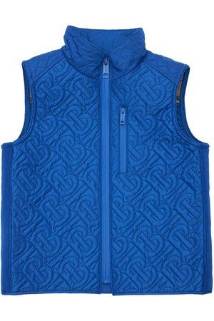 Burberry Boys Body Warmers - Logo Nylon Puffer Vest